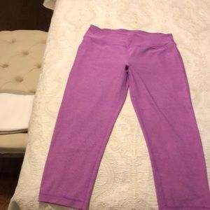 VOGO Athletica Pants - Purple Capri Length Workout Pants